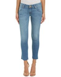 Hudson Jeans Blue Collin Shore Skinny Crop