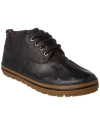 Sperry Top-Sider Black Men's Fowl Weather Leather Chukka Boot for men