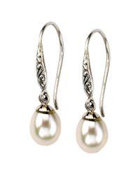 Samuel B. - Metallic Silver 7mm Pearl Drop Earrings - Lyst
