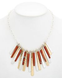 Robert Lee Morris - White Wired Warrior Plated Red Jasper Frontal Necklace - Lyst