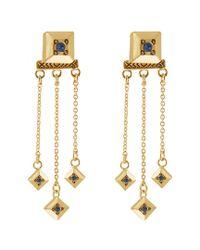 House of Harlow 1960 - Metallic 1960 14k Plated Crystal Drop Earrings - Lyst