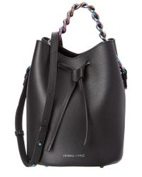 Kendall + Kylie - Black Ladie Leather-trim Mini Bucket Bag - Lyst