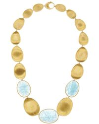Marco Bicego - Metallic Lunaria 18k Yellow Gold Aquamarine Necklace - Lyst