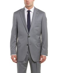 Hart Schaffner Marx - Gray Chicago Fit Wool Suit With Flat Front Pant for Men - Lyst