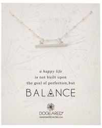 Dogeared - Metallic Balance Collection Silver Necklace - Lyst