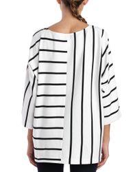 Joan Vass - Black Stripe Block Top - Lyst