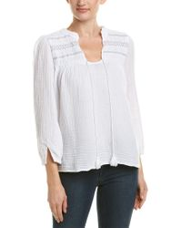 Michael Stars - White Gauze Peasant Top - Lyst