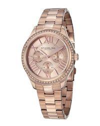 Stuhrling Original - Pink Women's Lady Majestic Watch - Lyst
