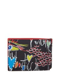 Christian Louboutin - Black Clipsos Leather Bifold Wallet for Men - Lyst