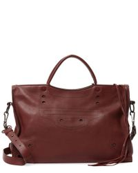 Balenciaga - Red Blackout City Medium Leather Shoulder Bag - Lyst