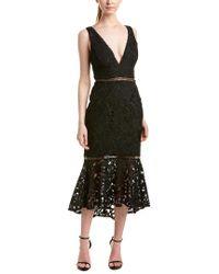 Nicholas - Black Midi Dress - Lyst