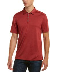 John Varvatos - Red Hampton Silk-blend Polo Shirt for Men - Lyst