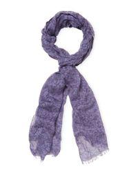 John Varvatos - Purple Collection Floral Vintage Crinkled Scarf for Men - Lyst