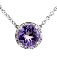 Poiray Multicolor 18k 2.56 Ct. Tw. Diamond & Amethyst Necklace