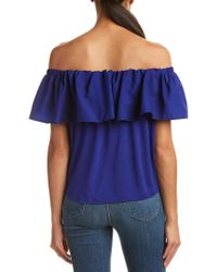 French Connection - Blue Polly Plains Top - Lyst