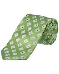 Ike Behar - Green Summer Squares Silk Tie for Men - Lyst