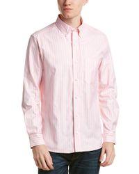 Bills Khakis Pink Standard Issue Slim Fit Woven Shirt for men