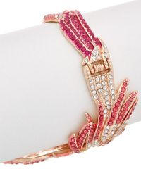 Betsey Johnson - Multicolor Bejeweled Critters Tonal Bird Statement Cuff - Lyst