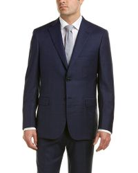 Brioni - Blue Wool Suit With Flat Front Pant for Men - Lyst