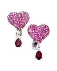 Dior Purple 18k 4.95 Ct. Tw. Ruby Earrings