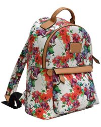 Adrienne Vittadini - White Mutli Color Nylon Backpack - Lyst