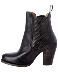 Bed Stu - Black Insight Leather Bootie - Lyst