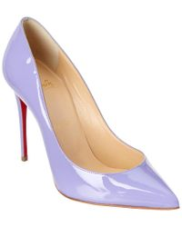 Christian Louboutin - Purple Pigalle Follies 100 Patent Pump - Lyst