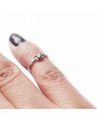 Ayaka Nishi - Metallic Tiny Bone Silver Knuckle Ring - Lyst