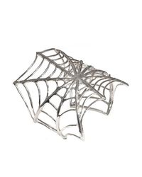 Bernard Delettrez | Metallic Web Silver Cuff | Lyst