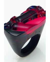 Pasionae - Black Murano Ring Opaque Base- Lust - Lyst