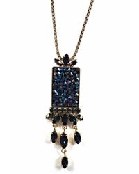 Otazu | Black Swann Pendant Necklace | Lyst