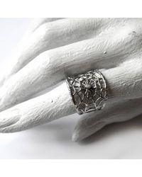 Ayaka Nishi - Metallic Gold Branch Spider Web Ring - Lyst
