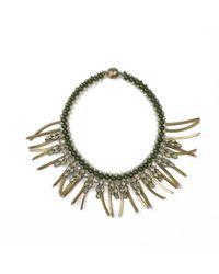 Tataborello | Metallic Beaded Choker Necklace With Tassels 14 | Lyst