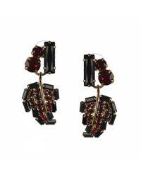 Otazu | Metallic 14kt Gold-plated Earrings With Siam Swarovski Crystals | Lyst