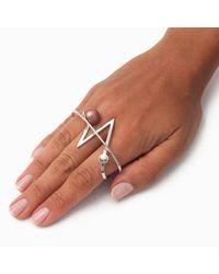 Leivan Kash | Multicolor Acis White Rhodium Knuckle Ring | Lyst