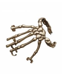 Bernard Delettrez | Metallic Bronze Skeleton Hand Cuff Bracelet | Lyst