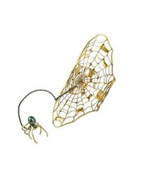 Ayaka Nishi - Metallic Gold Spider Bracelet With Spider Ring - Lyst