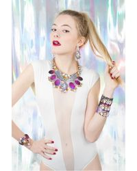 Bijoux De Famille - Pink Zodiac Small Plastron Necklace - Lyst
