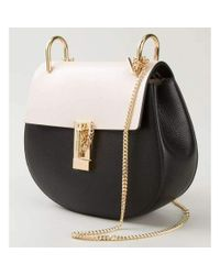 Chloé - Drew Black & White Small Grained Nappa Leather Bag - Lyst