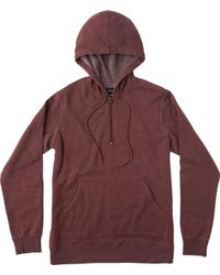 RVCA - Red Sunwash Pullover Hoodie for Men - Lyst