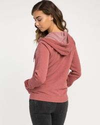RVCA - Multicolor Label Burnout Fleece Hoodie - Lyst
