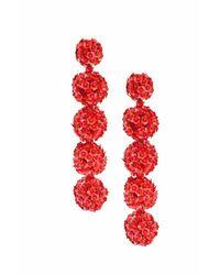 Sachin & Babi | Fleur Bouquet Earrings - Red | Lyst