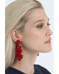 Sachin & Babi | Red Grapes Chunky Beaded Dangle Earrings | Lyst