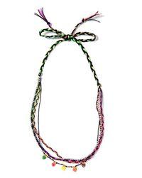 Venessa Arizaga | Multicolor Rainbow Heart Necklace | Lyst