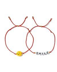 Venessa Arizaga | Red Smile Bracelet Set | Lyst