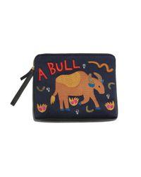 Lizzie Fortunato | Black Safari Clutch In Bull | Lyst