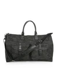 Hook + Albert - Black Waxed Canvas Weekender Bag for Men - Lyst