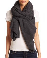 White + Warren - Gray Cashmere Travel Wrap - Lyst