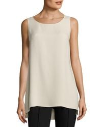 Lafayette 148 New York - Natural Ruthie Hi-lo Blouse - Lyst