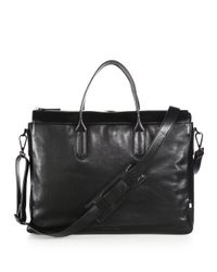 Uri Minkoff - Black Brompton Leather Briefcase for Men - Lyst